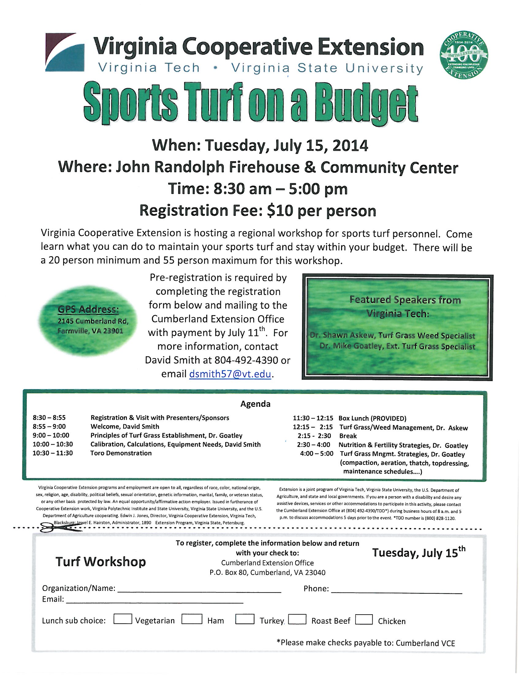 Sports Turf on a Budget Workshop
