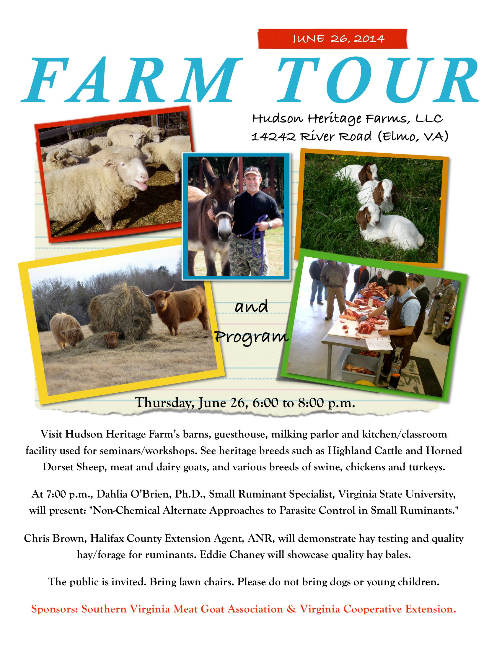 Small Ruminant and Farm Tour Flyer