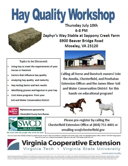 July 10 Hay Workshop Chesterfield