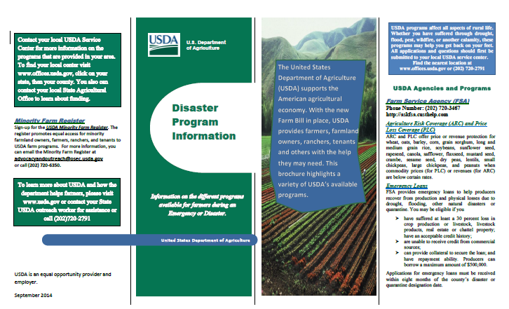 USDA Disaster Program Information