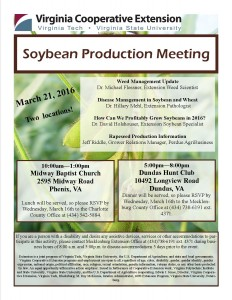 2016 Soybean Meeting Flyer