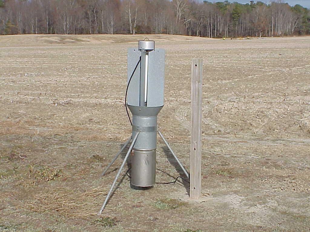 Black light trap in field
