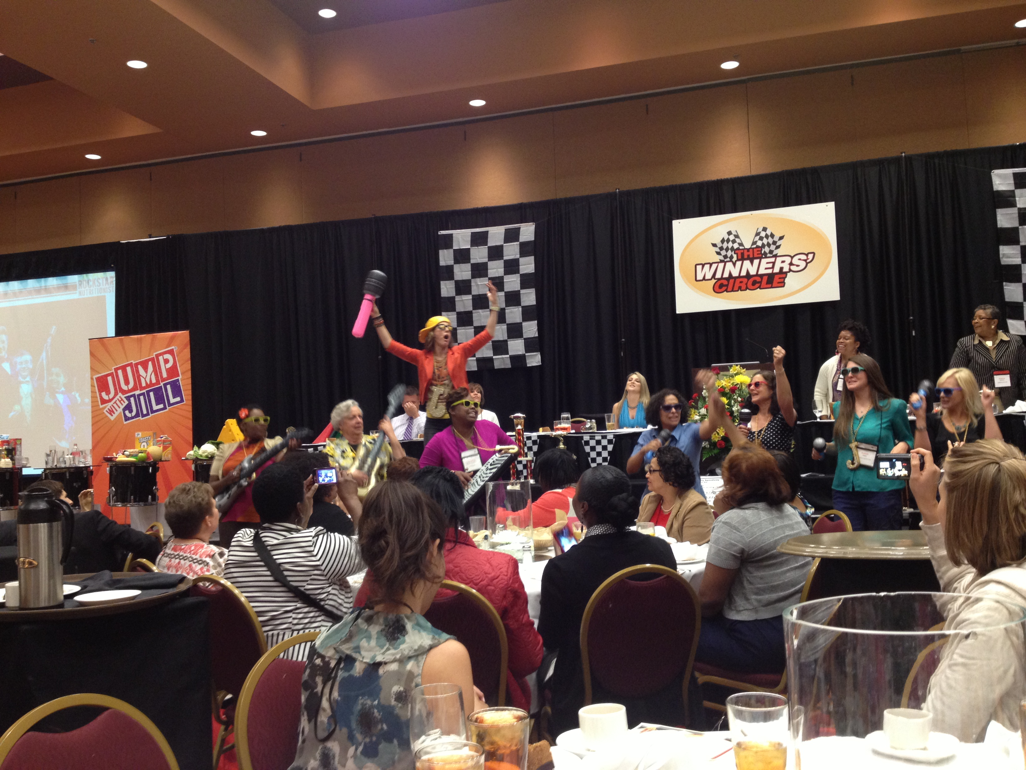 Opening Luncheon and Keynote speaker Jump with Jill, The Rockstar Nutritionist using a rock 'n roll approach to communicating a healthy message.