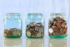 Multiple money jars