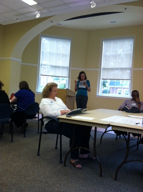 Jennifer Abel lead a continuing education class for Master Financial Education Volunteers