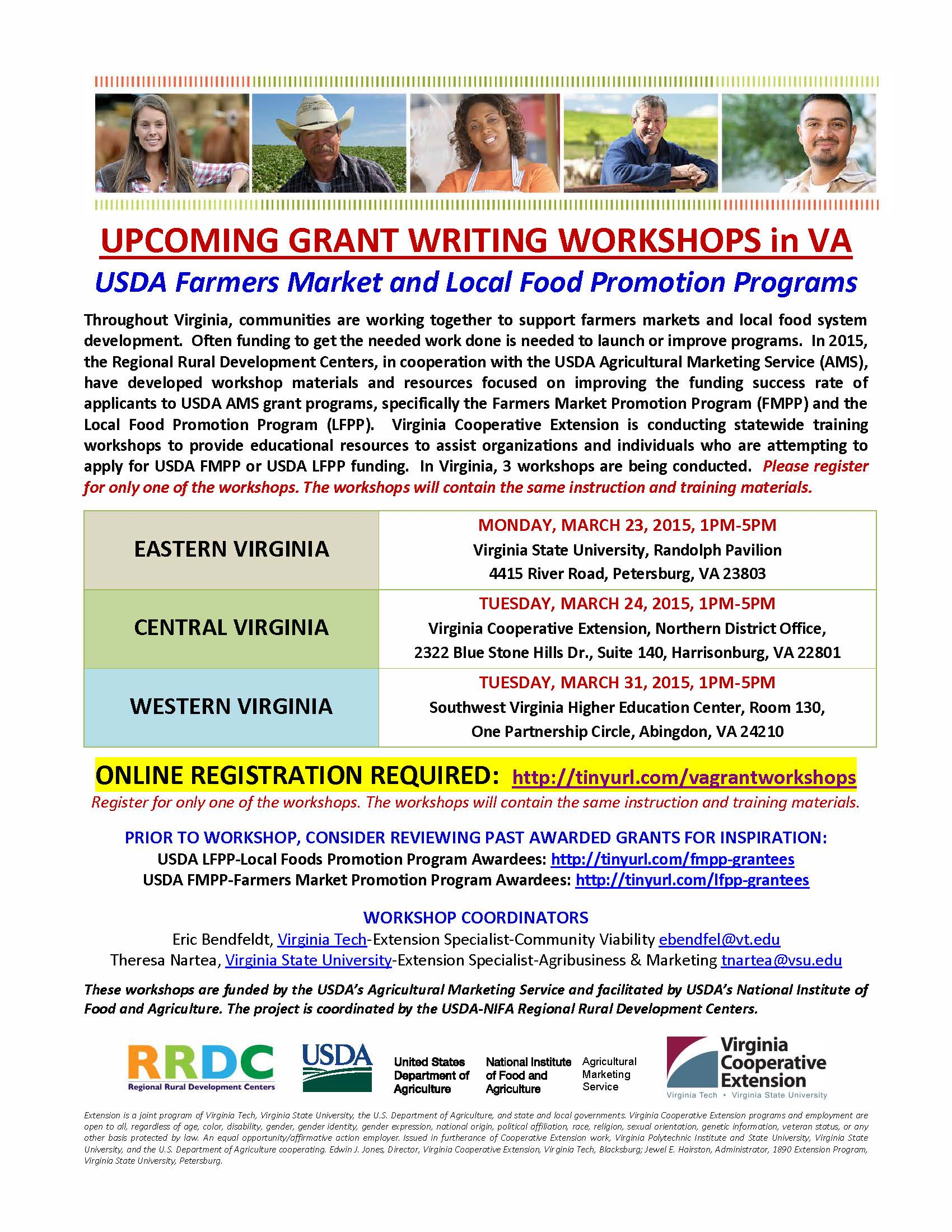 2015 USDA FMPP  LFPP Workshops in Virginia