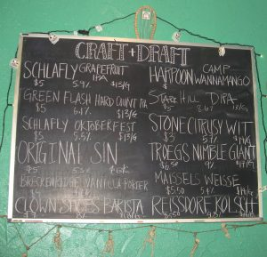 Craft and Draft beverage offerings, Baja Bean Co., Staunton, Virginia