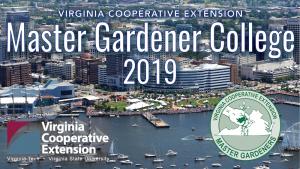 master gardener college 2019 banner