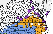 Kudzu bug distribution map 070113