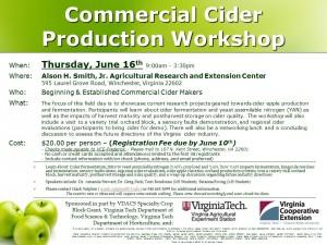 2016 Cider Workshop Flyer
