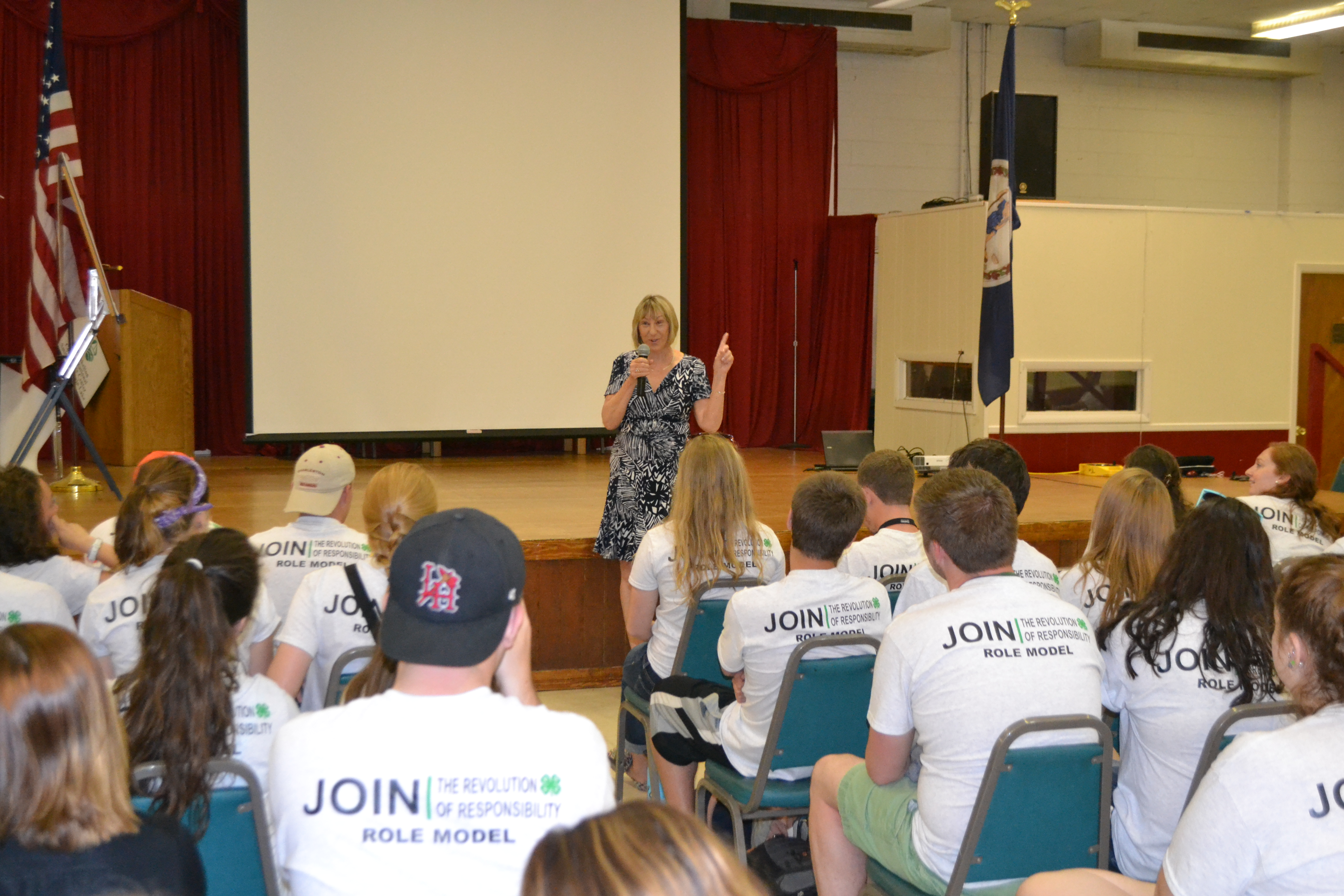 Mary Miller inspiring the Virginia Camp Staff of 2013